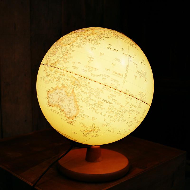 复古中英文地球灯